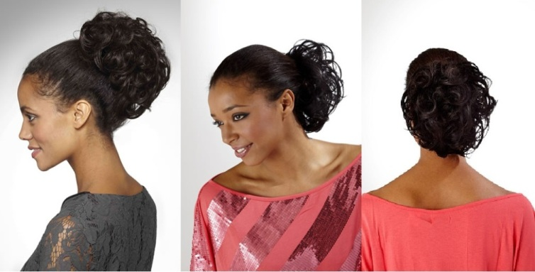 pony tail human hair wigs for black woman